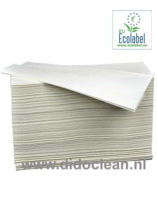 Handdoekjes Z-vouw cellulose 2 laags 24 x 21 cm WIT