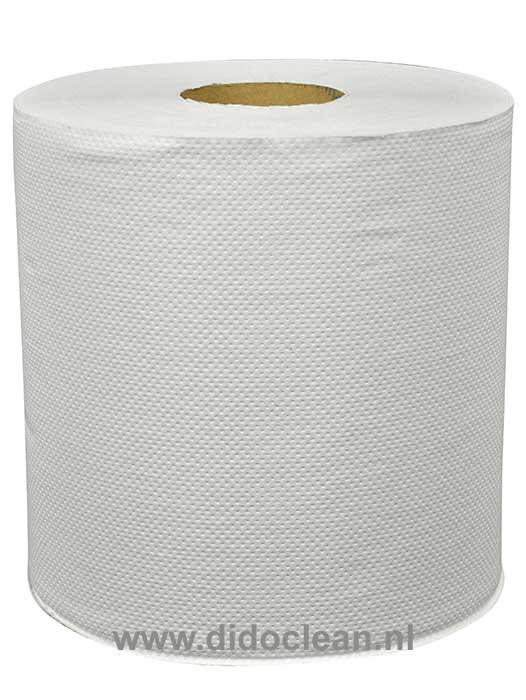 Midi Multirol recycled tissue wit met koker 6 stuks