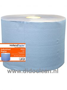 Maxi Multirol Blauw 2 laags verlijmd 380 m x 22 cm 2 rollen
