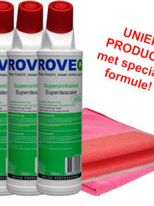 3 x Superontkalker GEL 750ml inclusief gratis microvezeldoek en spons