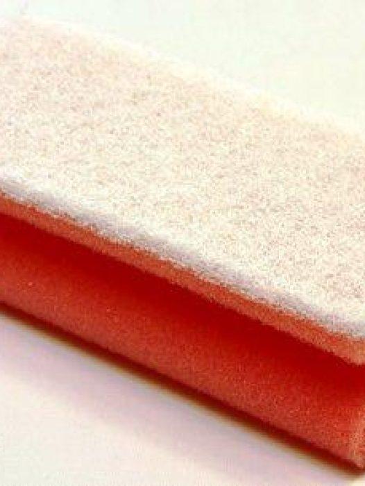 Krasarme schuurspons met handige grip en witte schuurzijde